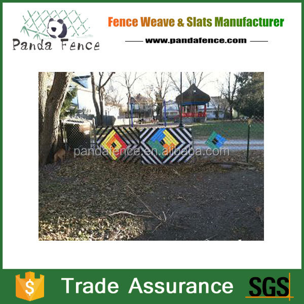 Economical&Durable Silver Plastic Privacy Fence Weave for Wire Mesh steel Fencing