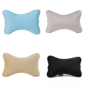 New Arriving Cotton Fabric Car Seat Dog Bone Shape Neck Pillow, Customize Cheap Travel Car Seat Plush Cushion Pillow