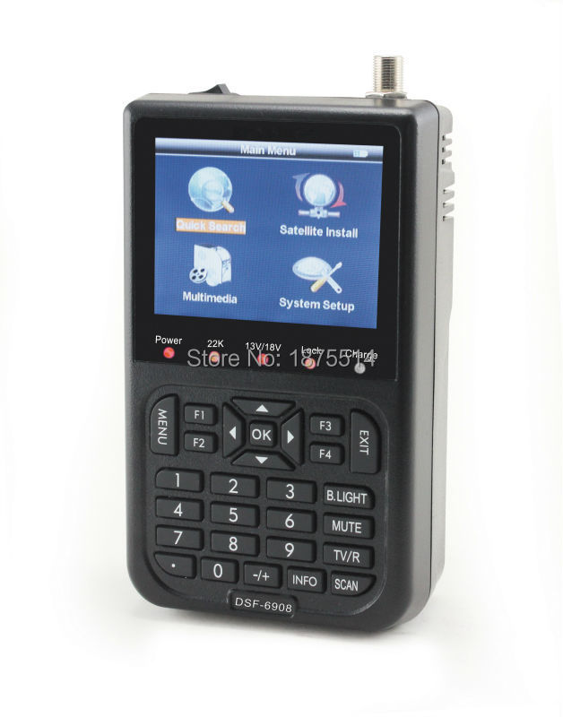 "Satlink WS-6908 3.5"" DVB-S FTA digital satellite meter satellite finder ws 6908 satlink ws6908"
