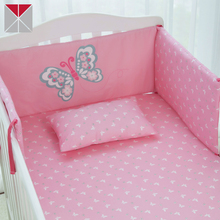 Made in china 100% cotton nursery crib bedding sets mini crib breathable bumper