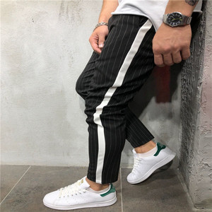 Urban Straight Casual Trousers Slim Fitness Long Pants Men's Twill Fashion Jogger Pants