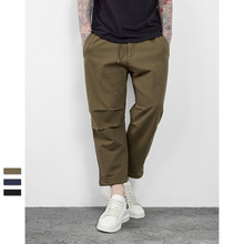 ZH0128G Wholesale Solid Color Oversize Men's Casual Cropped Pants