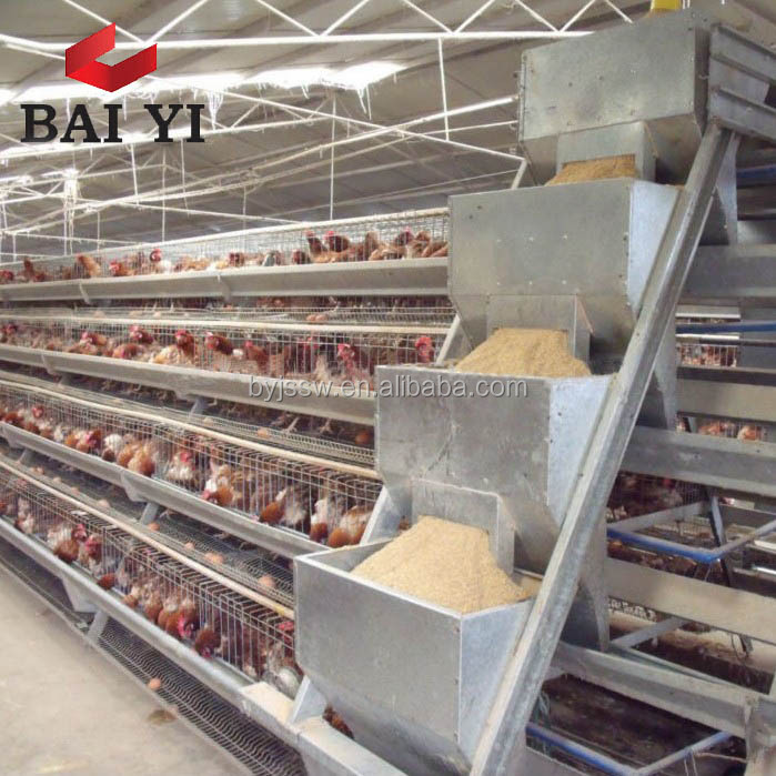 Automatic Chicken Layer Cage A3-96/Layer egg Chicken Cage for sale in Philippines/Poultry Farm House Design