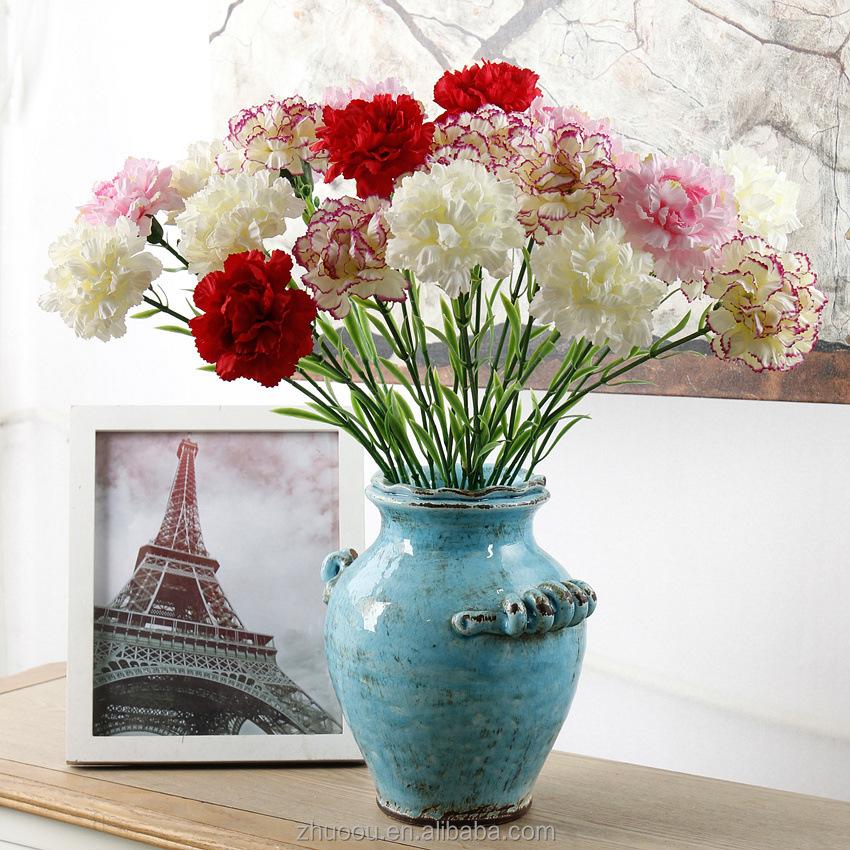 Cheap Artificial Individual Silk Flowers Artificial Carnation