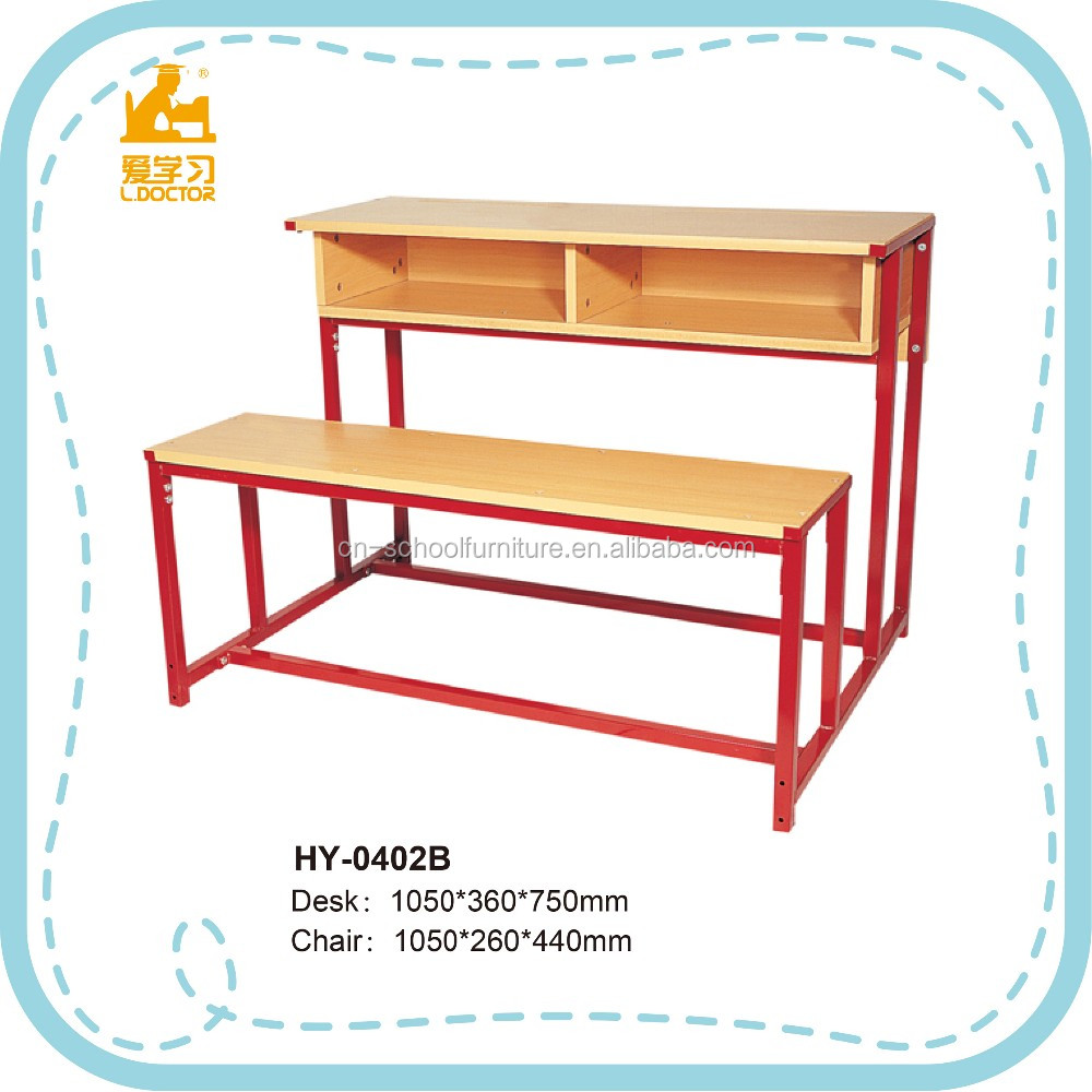 New Design Modern School Furniture / Double Seater School Bench ...