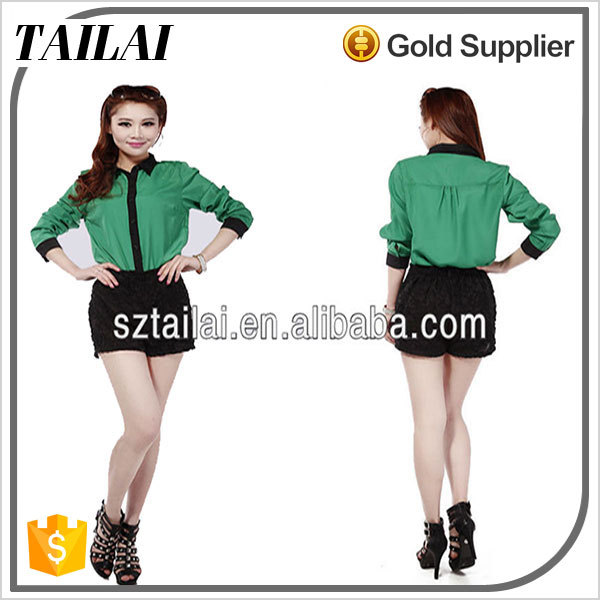 Apparel supplier 2017 new casual lady style of uniforms blouses