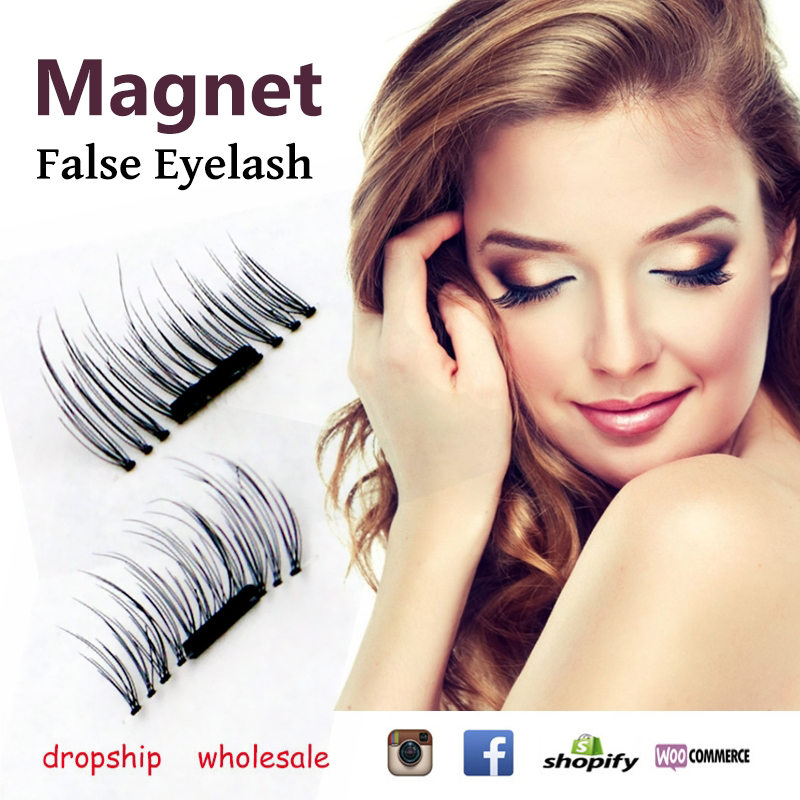 3D Magnetic False Eyelashes Natural Long Dropship