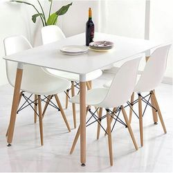 Multifunctional colorful dining chair with unique design legs