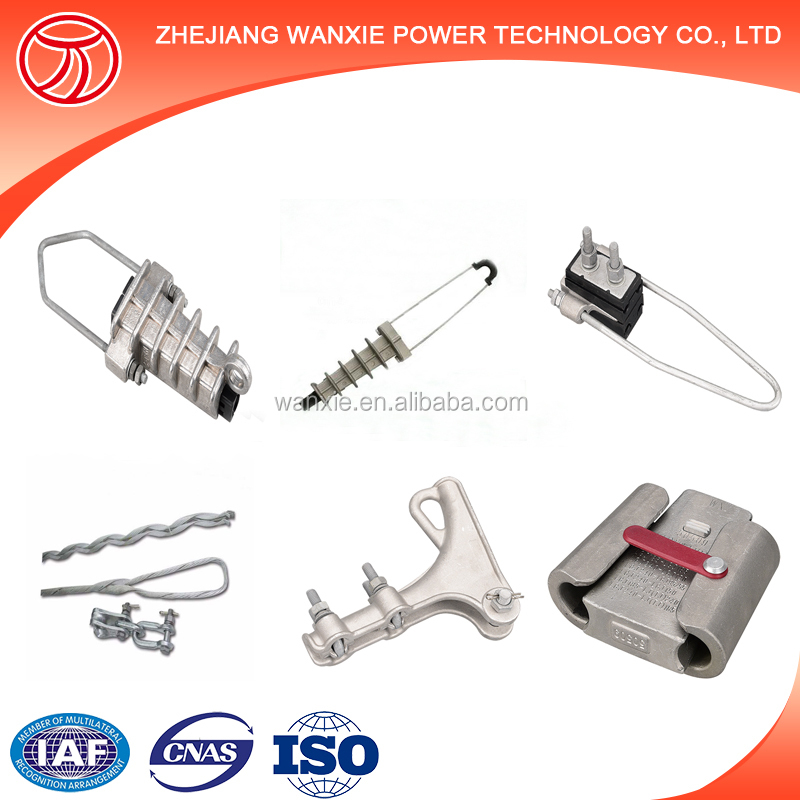 Aerial strain clamp electrical overhead line fitting