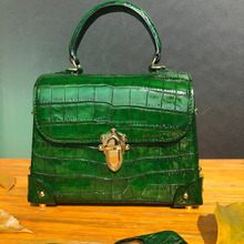 Luxe Ventre <span class=keywords><strong>Crocodile</strong></span> En Cuir <span class=keywords><strong>Véritable</strong></span> Sac <span class=keywords><strong>À</strong></span> <span class=keywords><strong>Main</strong></span> pour Les Femmes