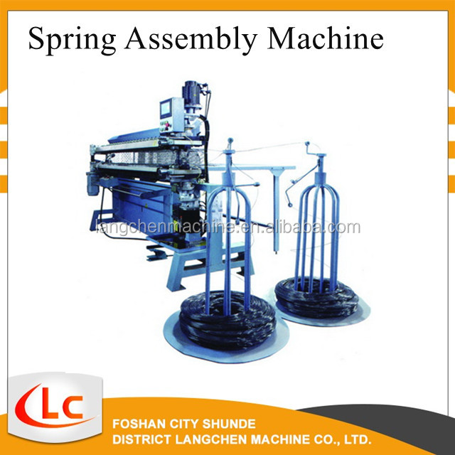Mattress spring assembler making machine