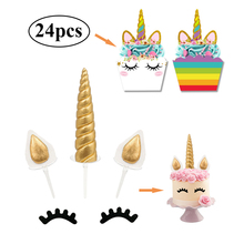 unicorn party supplies unicorn cupcake topper wrapper birthday party supplies