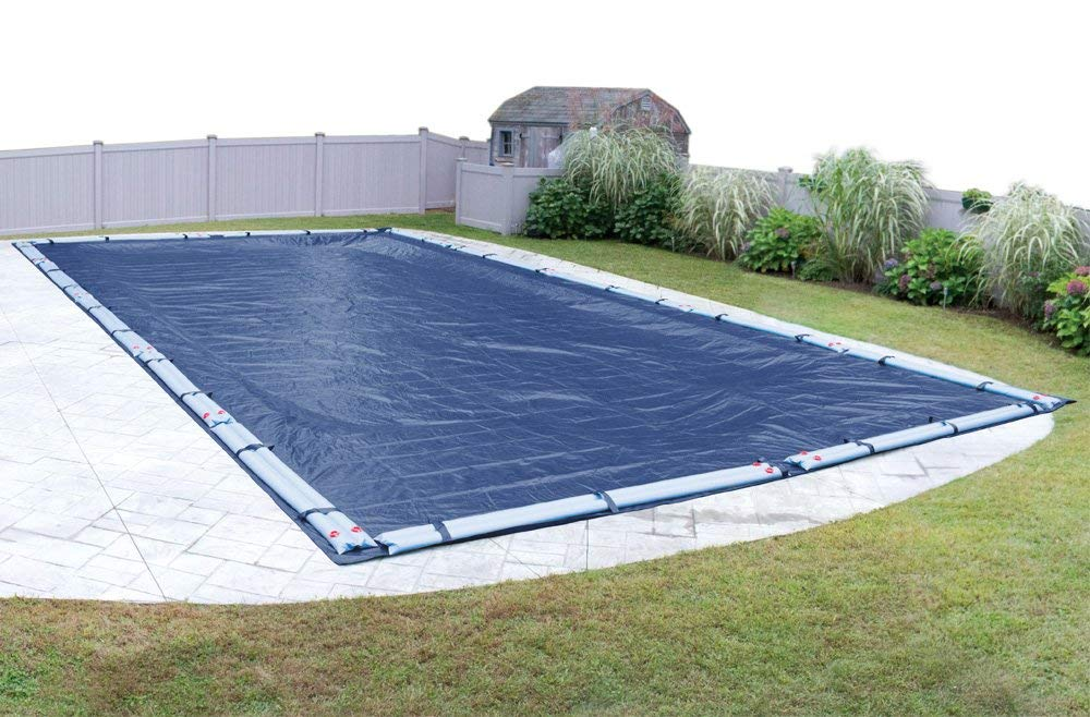 Pool Mate 471836R-PM Commercial-Grade Rip-Shield Winter in-Ground Cover, 18 x 36-ft, Dazzling Blue