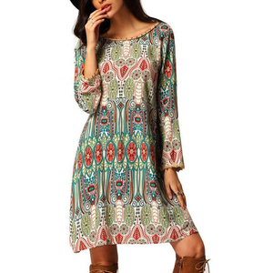 Summer Fashion Clothes Women Dresses Boho Floral Cover Up Beach Dress