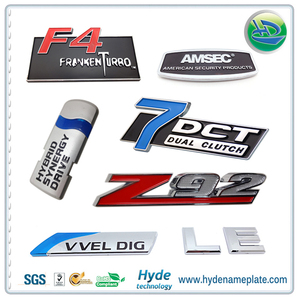 custom made adhesive badges lettering stickers shiny car chrome badges 3m metal badge plastic emblems adhesive car