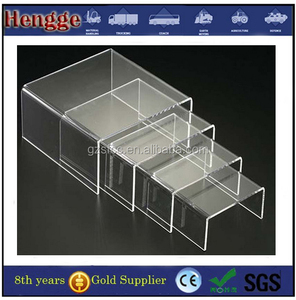 Rectangle acrylic shoes display stand for shops