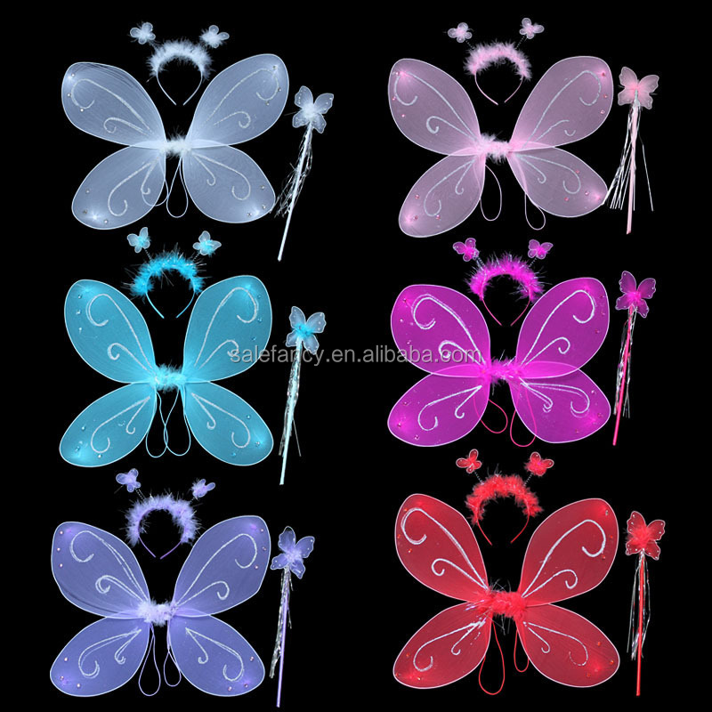 Led lighting butterfly angel wings wholesale QFW-0026