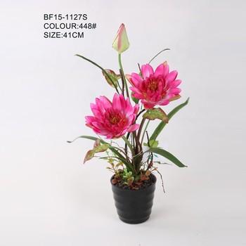 Hot Sale Artificial Flowers Silk Lotus Flowers Artificialartificial