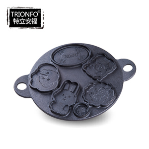 Trionfo cartoon cast iron circle reversibility cake mould/pan