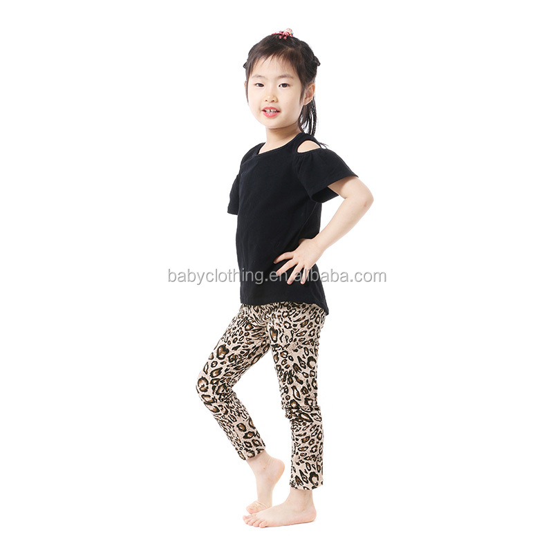 Hot sale short sleeve top with icing pants kids baby clothes girls clothing sets