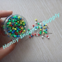 4mm x 17mm Plastic Head Assorted Colors Map Push Pins