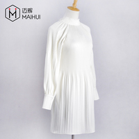 Hot selling Ladies Tops Crinkle White Shirts Blouses Women Clothes
