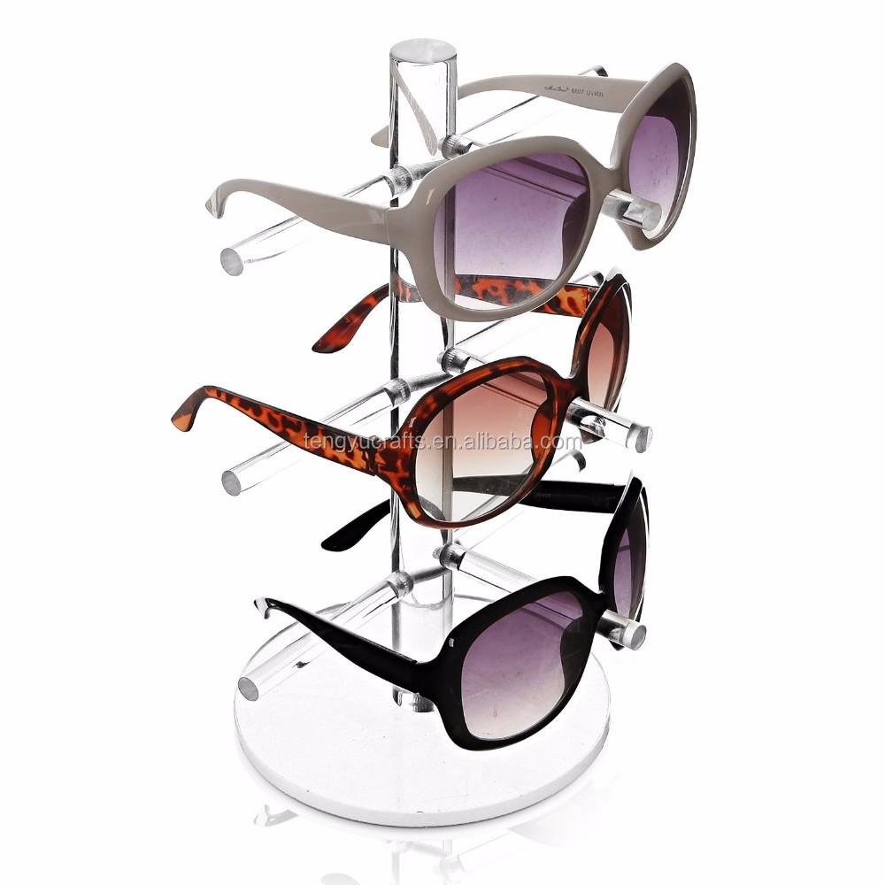 Eyeglasses Frame Display Carrying Showcase : Optical Holder Eyeglass Showcase Acrylic Clear Crystal ...