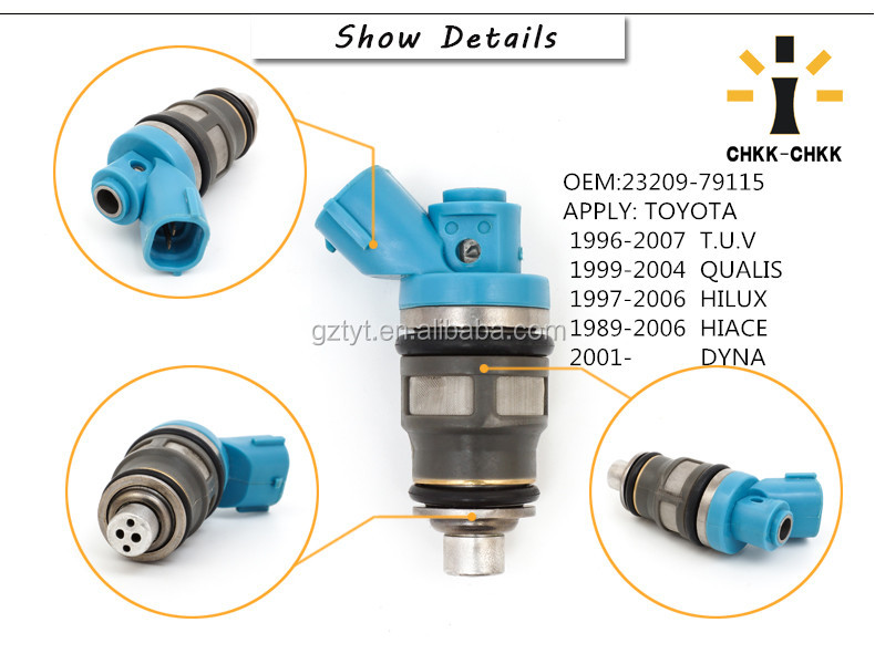 For TOYOTA T U V QUALIS HILUX HIACE Fuel Injector 23209-79115 fuel Injection Nozzle