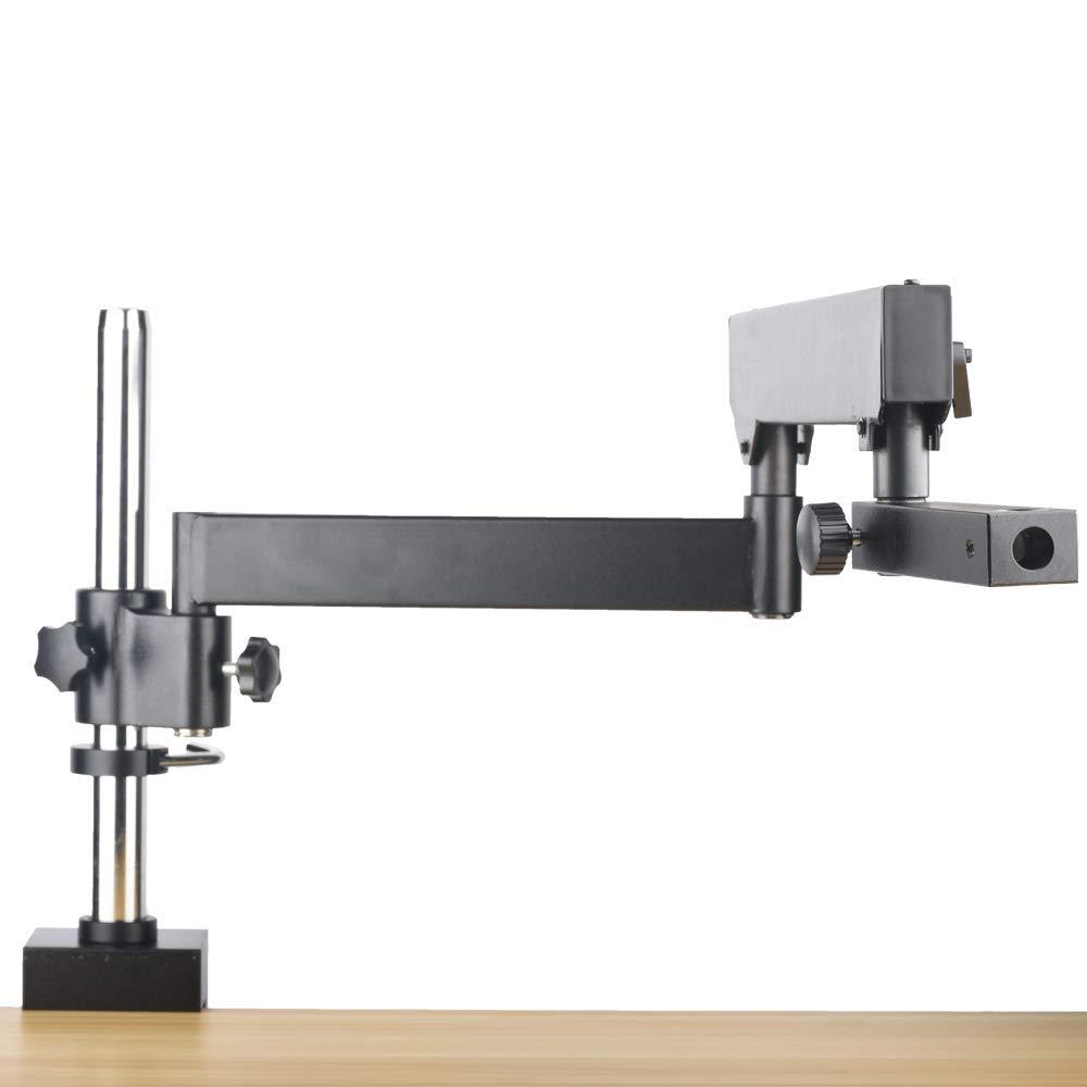 OMAX 2.1X-270X USB3 10MP Trinocular Zoom Stereo Microscope on Articulating Arm with 150W Dual Fiber Light