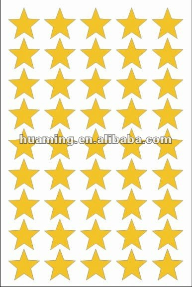 Self Adhesive Gold Star Label (hot stamping)