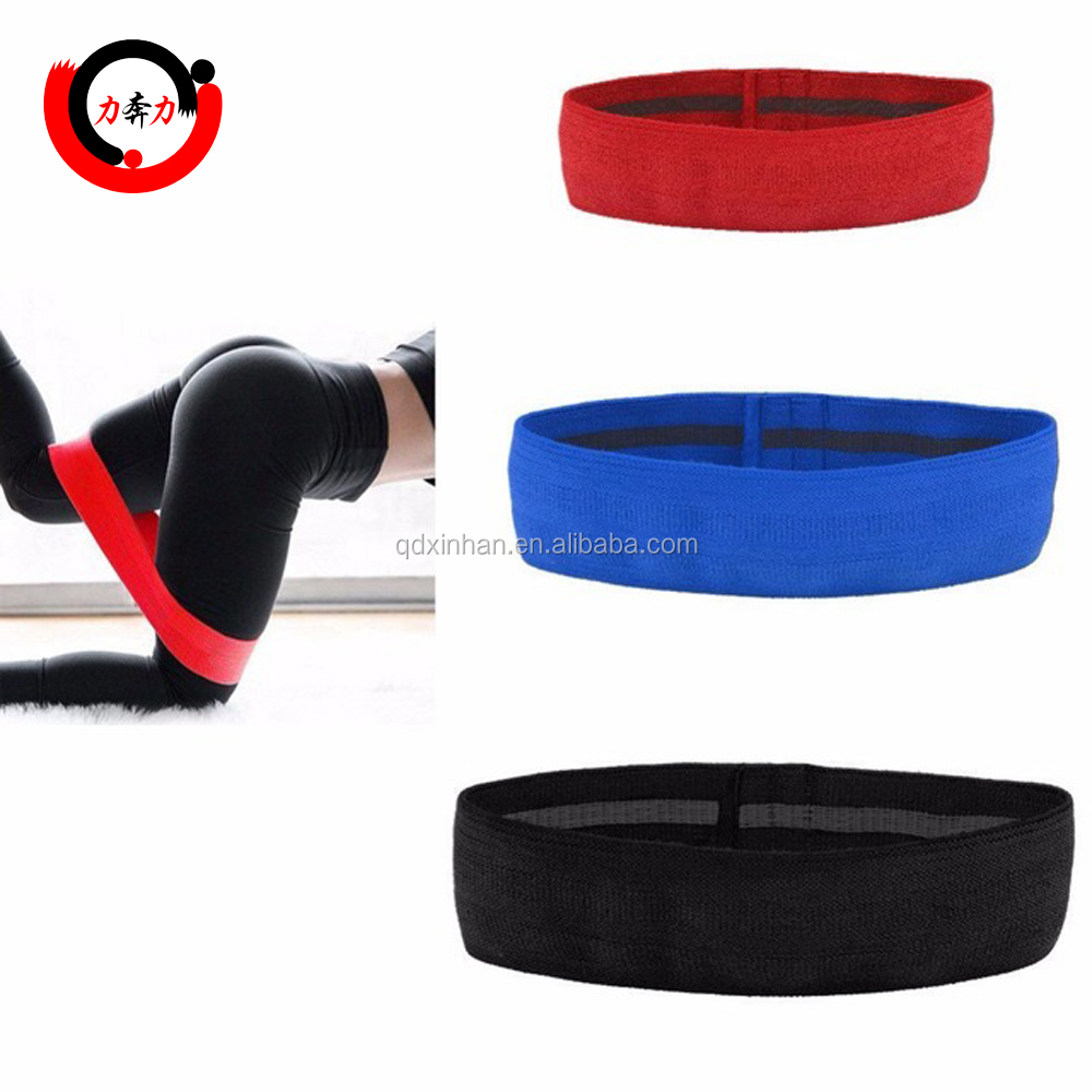 2018 Hot Selling Weerstand Hip Bands-Oefening Bands Voor Booty, dij & Glutes-Soft & antislip Ontwerp Lus Set