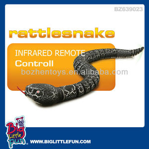 Infrared remote control electronic toy snake with light