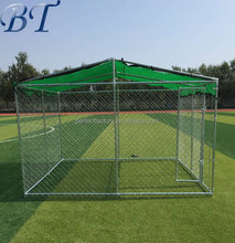 Manufacturer wholesale garden and backyard outdoor chain link boxed dog run dog kennel