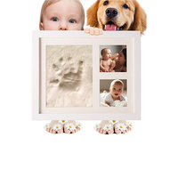 2019 Hot sale 12 month yiwu baby photo frame footprint and handprint kit for home decor