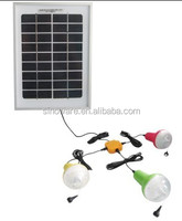 Indoor solar lighting system 10W solar panel kits for remote areas