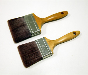 Preimum quality wooden handle paint brush with natural bristle and synthetic mixed