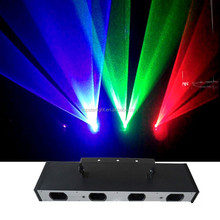Low Power RGB Dj Laser Lights Four Heads 3colors Rgb (R100mw*2,G80mw,G50mw) Disco Laser Stage Light sage Laser Lighting Lazer