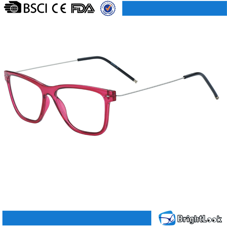 slim temple colored frame TR90 material optical glasses