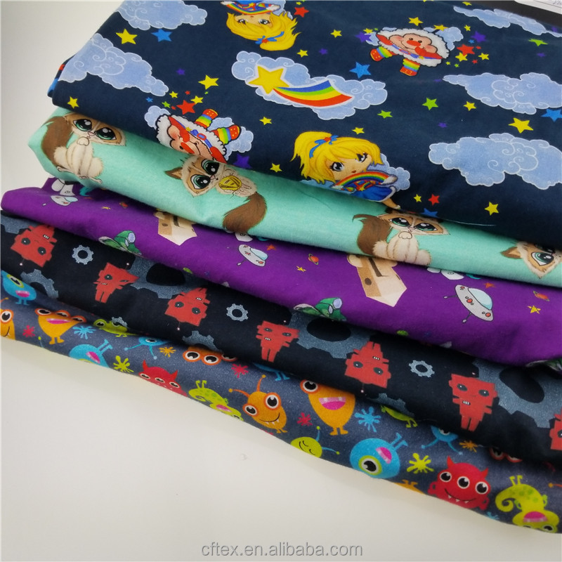 chinese supplier custom digital printing cotton lycra fabric for kids