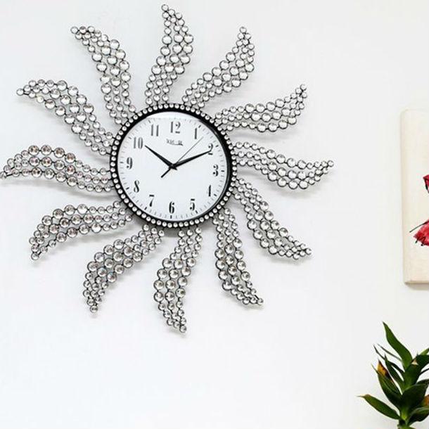 Lp02959 Wall Clock Metal Blossom Wall Clock Fancy Design Buy