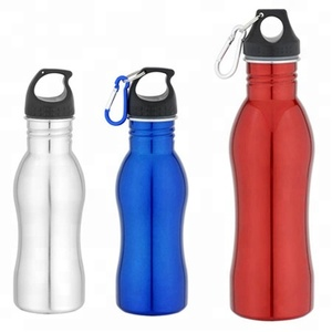 Eco-friendly curve shape stainless steel sport water bottle