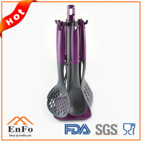 bulk korean style different types cooking kitchen utensils with hanging rack low price