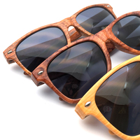 DLC9009 High quality oem wooden custom sunglasses with wood grain printing