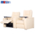 USIT UV-832B luxury vip electric recliner white leather sofa with tray for public cinema and home theatre