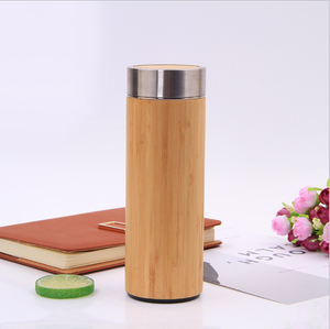 500ml Bamboo Travel Thermos Cup Stainless Steel Water Vacuum Flasks Coffee Insulated Keep Warm Tea Cup Thermos