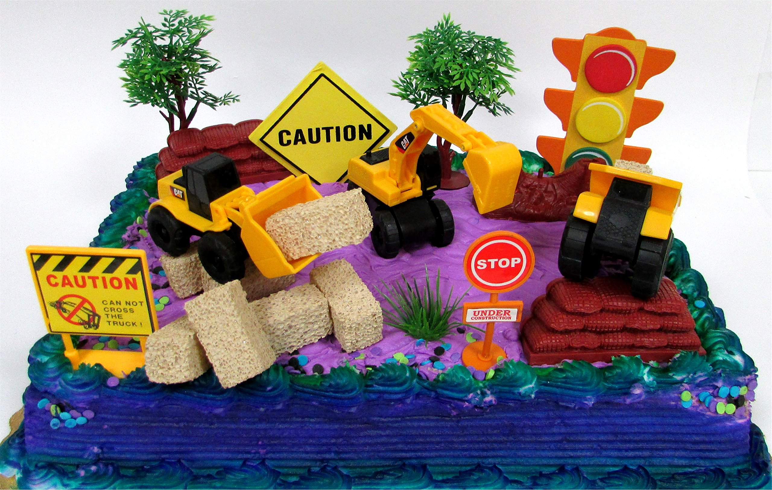 Buy 15 Piece Construction Trucks Themed Birthday Cake Topper
