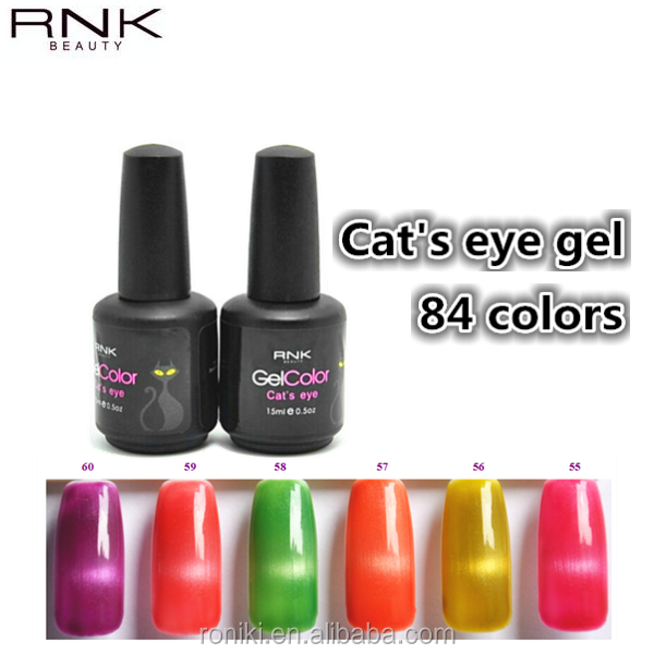 RNK magnetic cat's eye uv/led gel nail art gel polish best beauty choices in summer