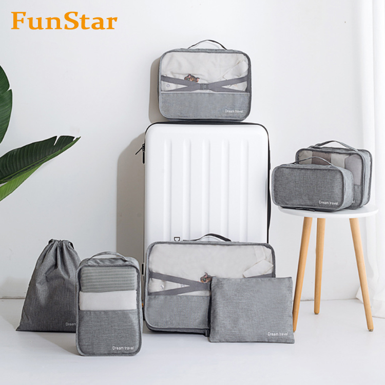 3f66b6da9c68 7 Pcs Packing Cubes Travel Luggage Packing Organizers Sets Outdoor Toiletry  Organizer Bag With Shoes Bag - Buy Packing Organizer,Packing Cubes,Travel  ...