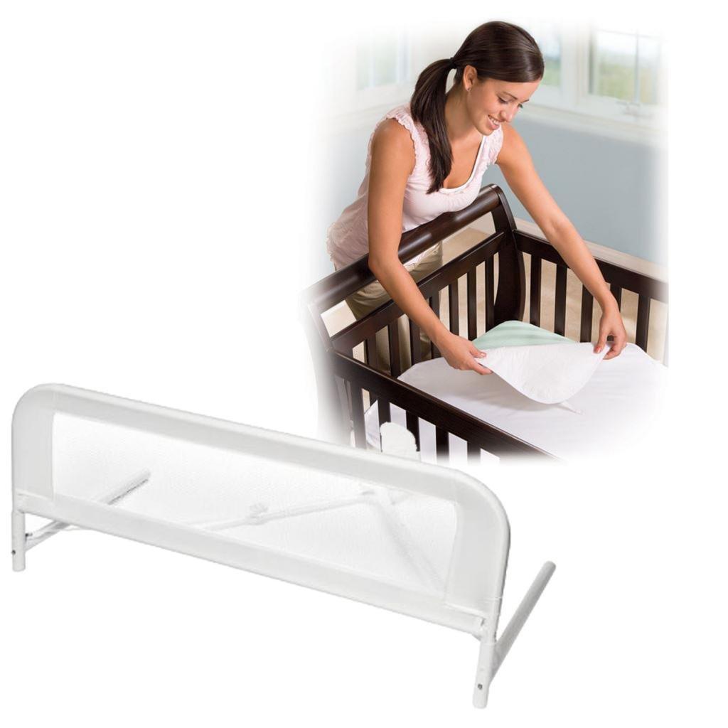 Kidco Convertible Mesh Crib Bed Rail With Sheet Mattress Protector