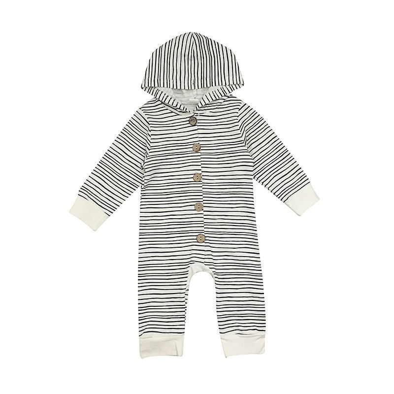 d00875edc134 New Toddler Newborn Baby Boy Girl Warm Infant Romper Striped ...